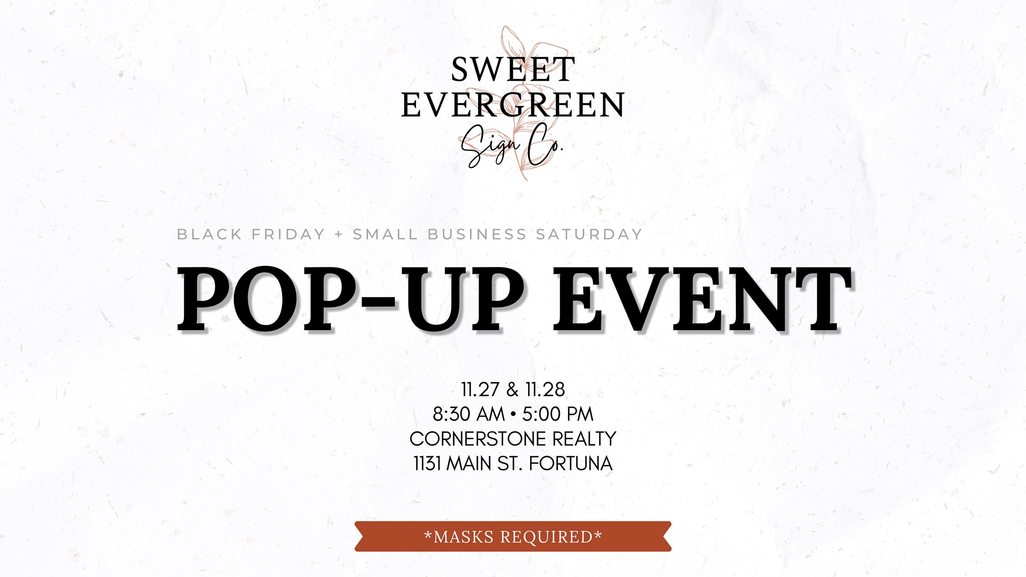 Sweet Evergreen Pop-Up Shop