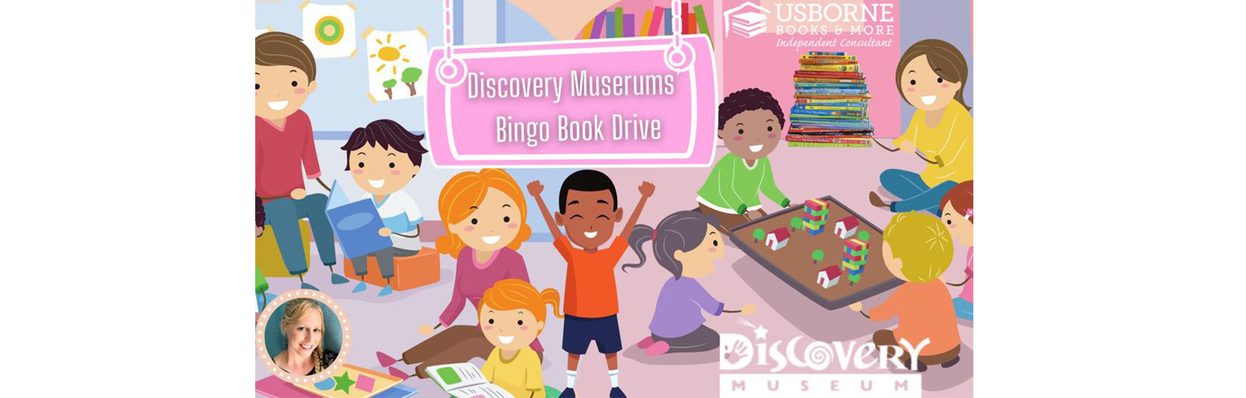Discovery Museums' BINGO Book Drive!