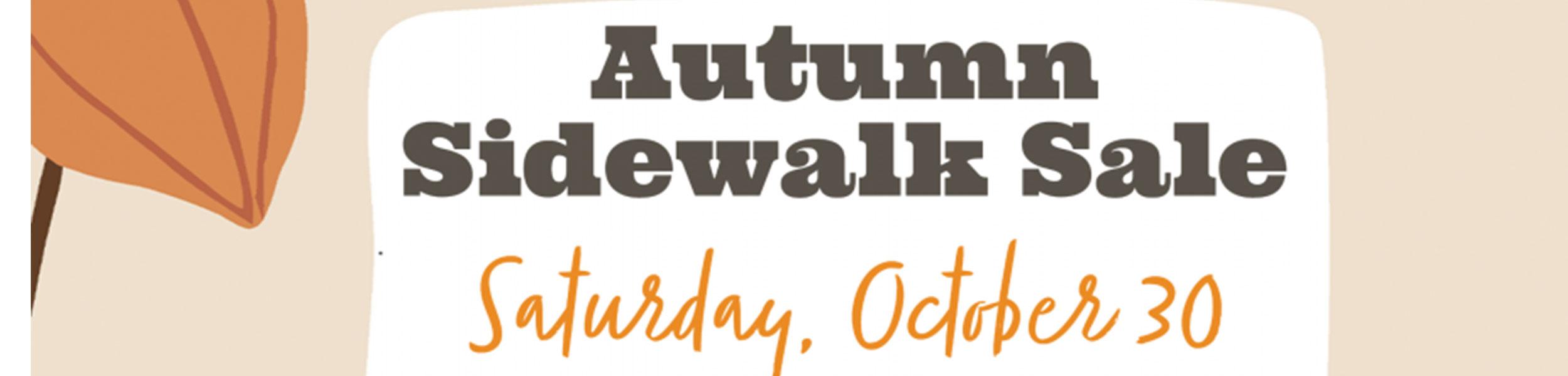Autumn Sidewalk Sale